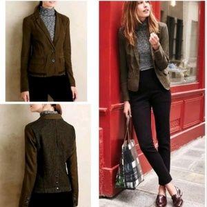 Hei Hei Anthro Delanie Green Blazer Jacket Size 10